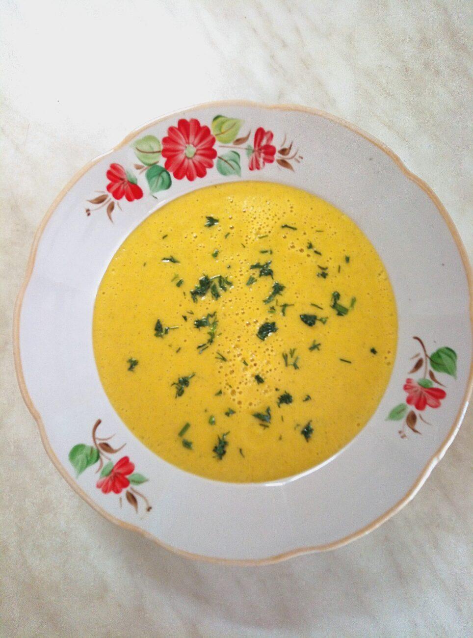 Гороховый крем-суп с цуккини