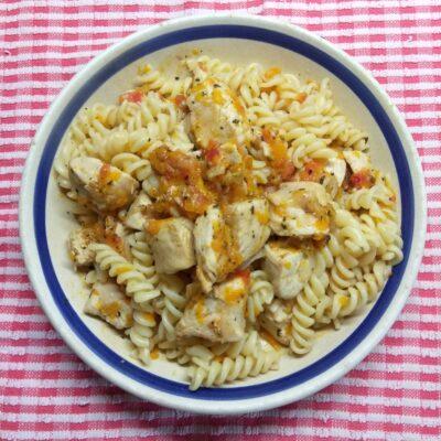 Макароны с куриным филе - рецепт с фото