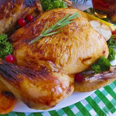 Курица, запеченная в майонезно-чесночном соусе - рецепт с фото