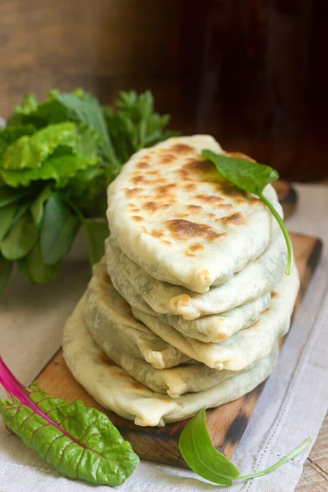 Фото рецепта - Лепешки с кабачками и зеленью - шаг 5