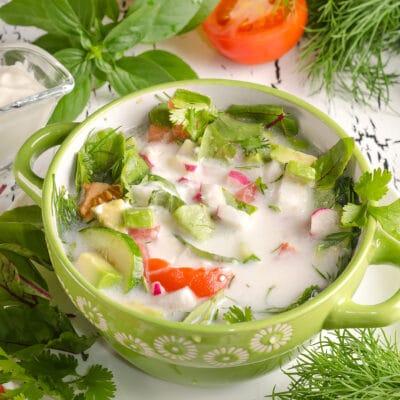 Летний холодный овощной суп - рецепт с фото