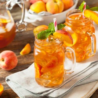 Напиток из персика со льдом - рецепт с фото
