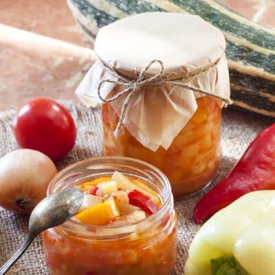 Салат из кабачков и перца (на зиму)