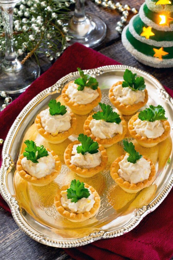 Фото рецепта - Тарталетки с паштетом из печени и кукурузы - шаг 5