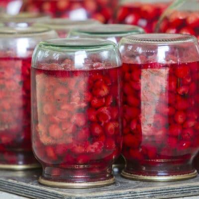 Вишнёвый компот на зиму - рецепт с фото