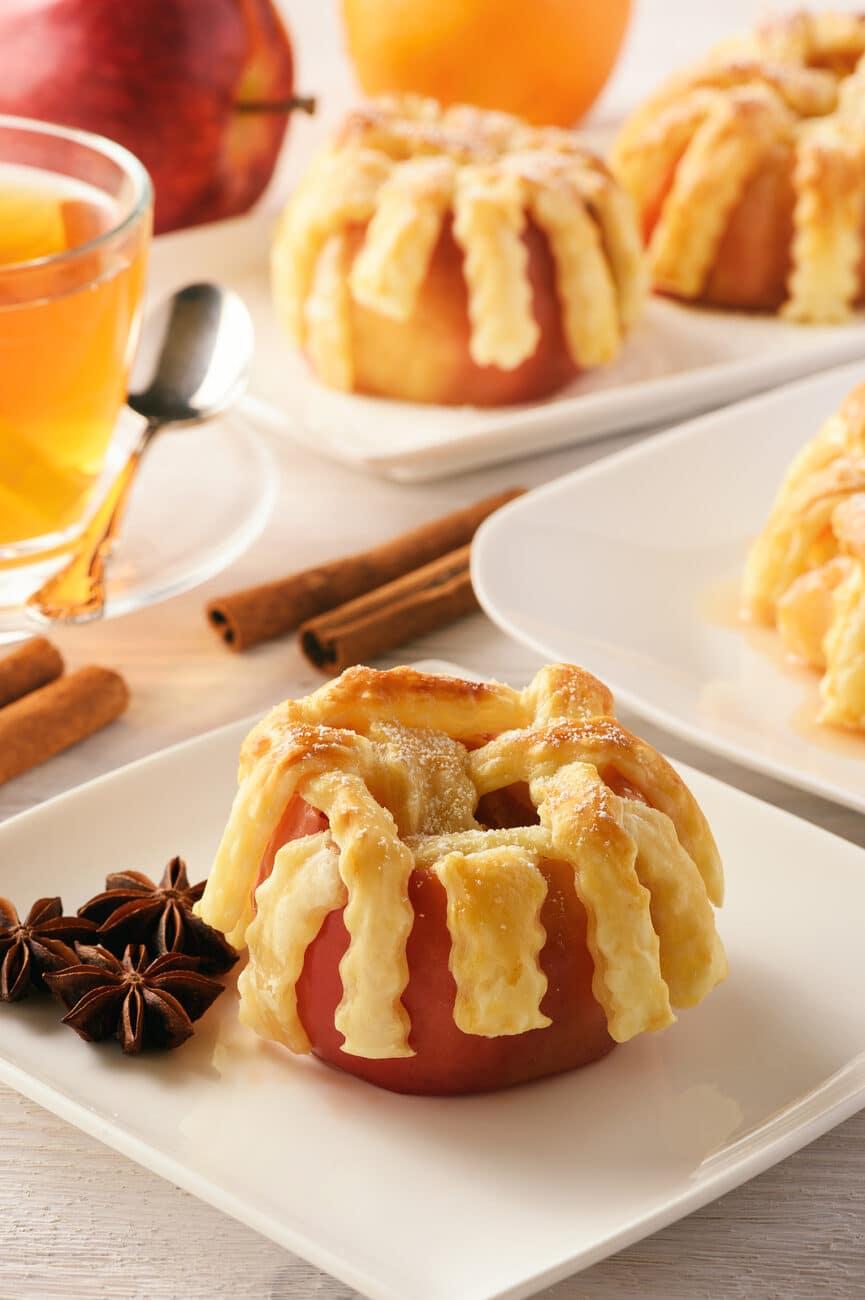 Запеченные яблоки с медом и имбирем