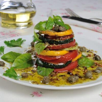 Запеченные овощи - теплый салат
