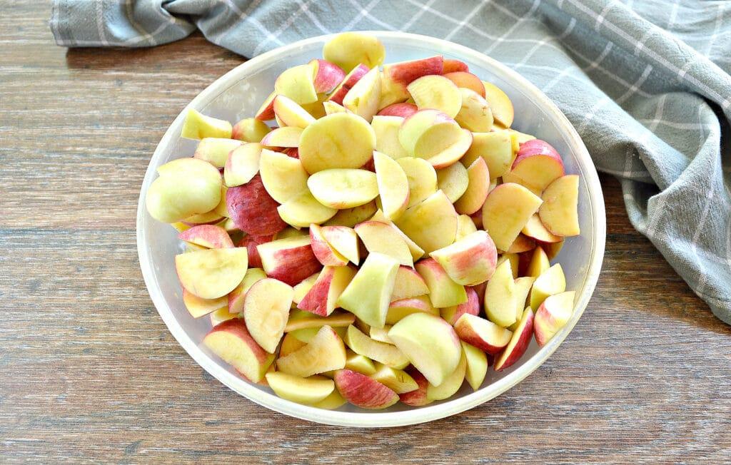 Фото рецепта - Яблочный компот в кастрюле - шаг 2