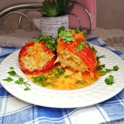 Красный фаршированный перец с мясом - рецепт с фото