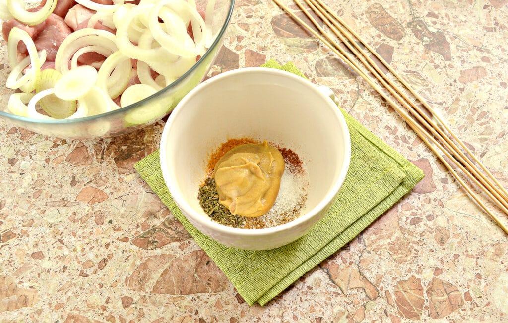 Фото рецепта - Маринад для шашлыка из свинины в духовке - шаг 3