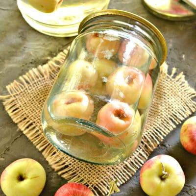 Яблочный компот на зиму - рецепт с фото