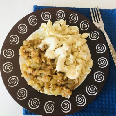 Пикантные баклажаны и кабачки на сковороде - рецепт с фото