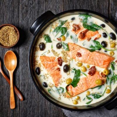 Филе лосося в сливочном соусе - рецепт с фото