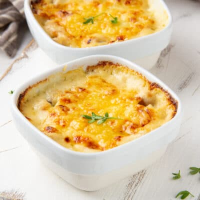 Гратен из картофеля с грибами и сыром