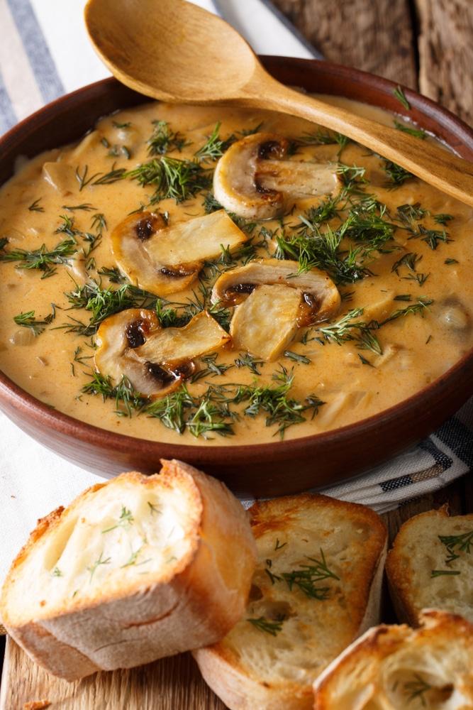 Густой грибной суп