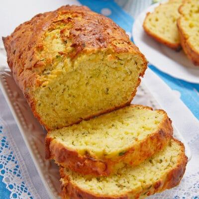 Хлеб с цукини на кефире (без дрожжей) - рецепт с фото