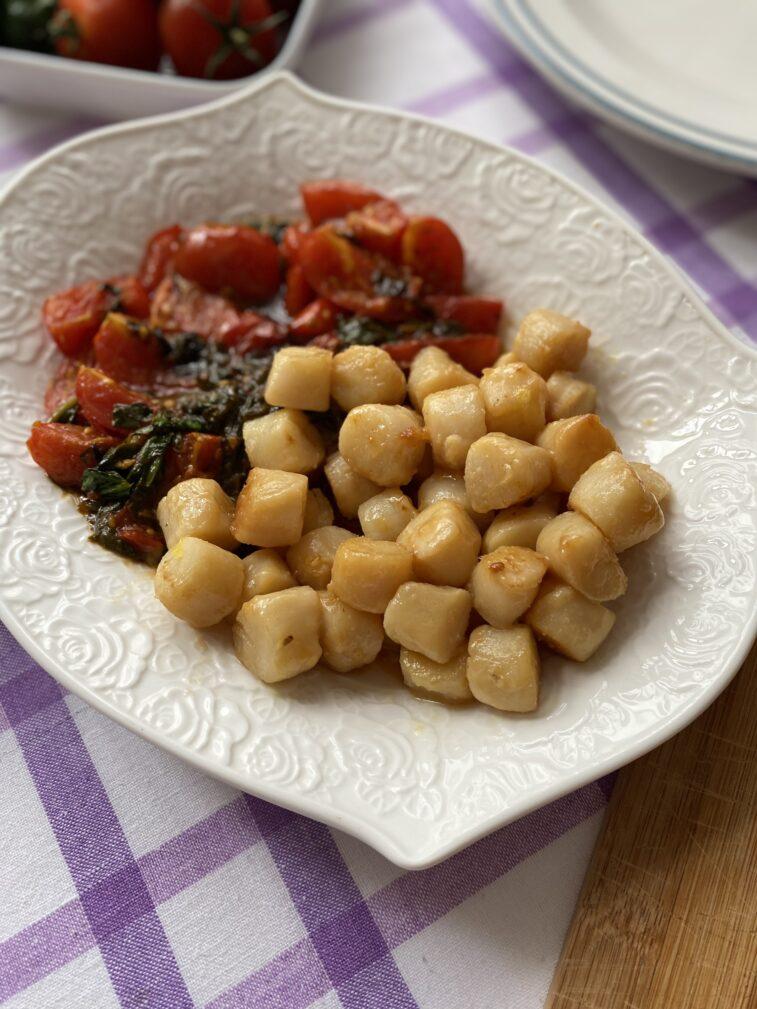 Фото рецепта - Паста с морскими гребешками и шпинатом - шаг 7