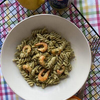 Паста с креветками и песто - рецепт с фото