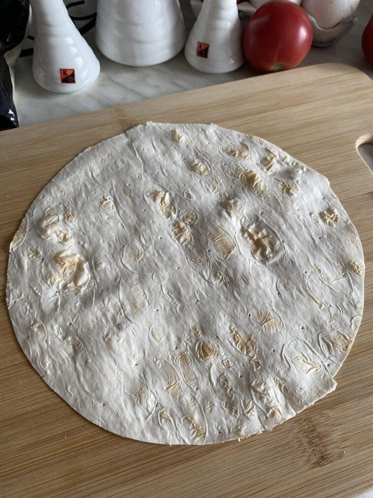 Фото рецепта - Омлет в лаваше с начинкой - шаг 3