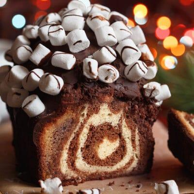 Кекс Зебра с шоколадом и маршмеллоу
