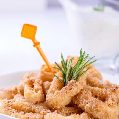 Кольца кальмара в кляре - рецепт с фото