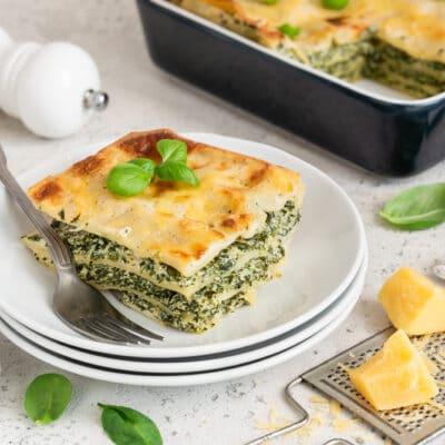 Лазанья со шпинатом и сыром