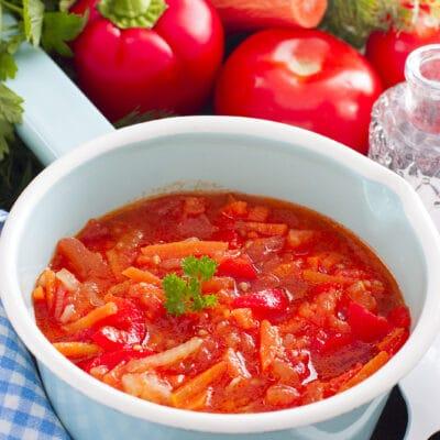 Лечо с морковью и томатами - рецепт с фото
