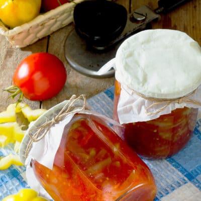 Лечо с помидорами - рецепт с фото