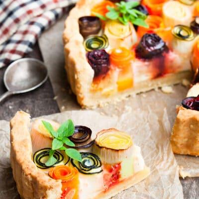 Открытый пирог с овощами - рецепт с фото
