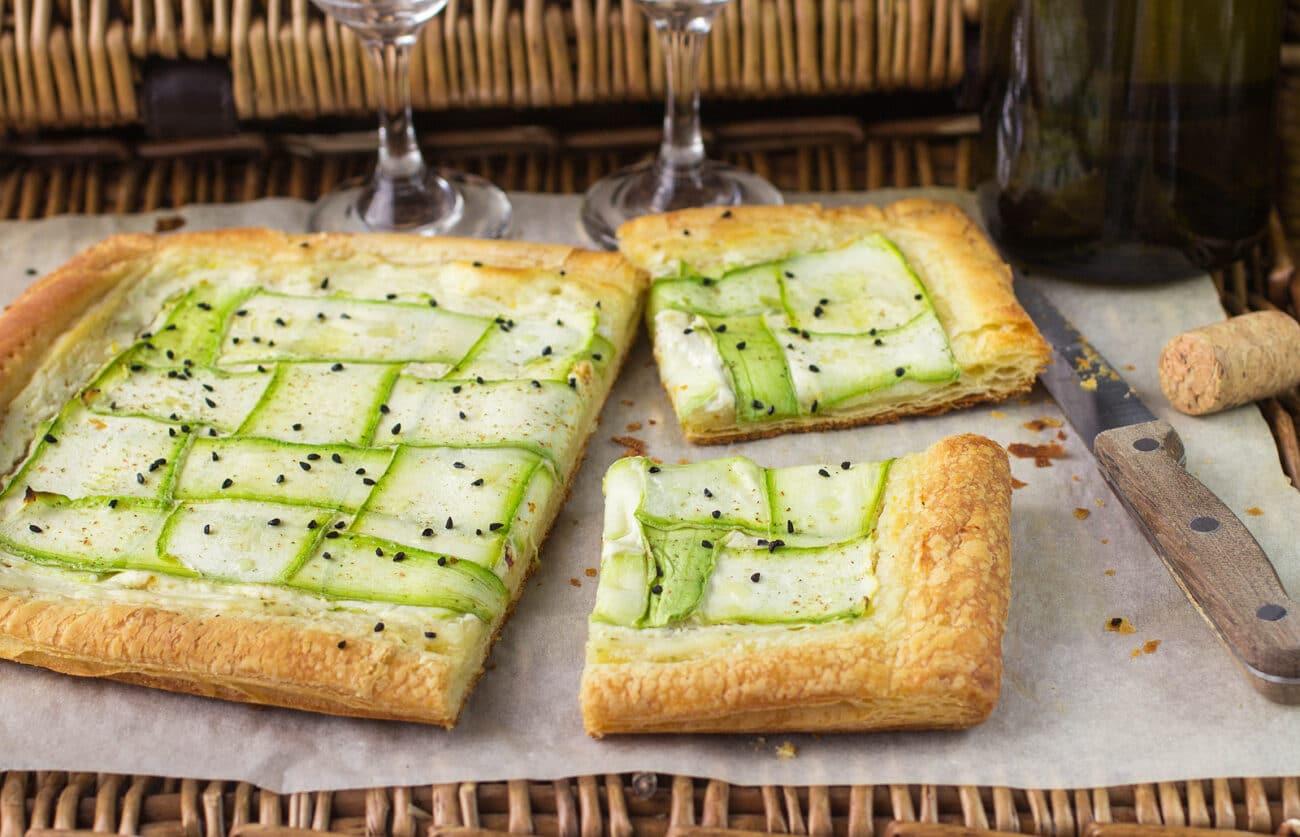 Пирог с сыром и кабачками