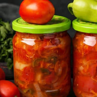 Салат из помидоров на зиму - рецепт с фото