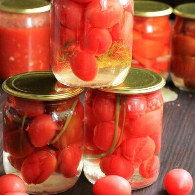 Сладкие маринованные помидоры на зиму - рецепт с фото
