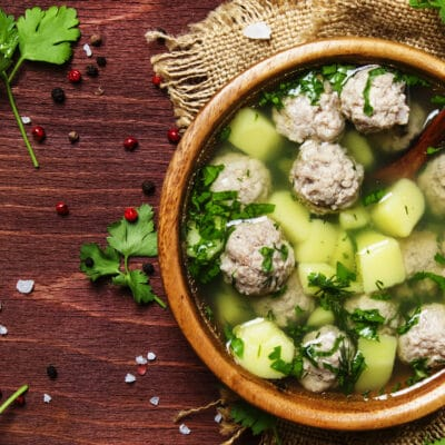 Суп с фрикадельками и картофелем - рецепт с фото