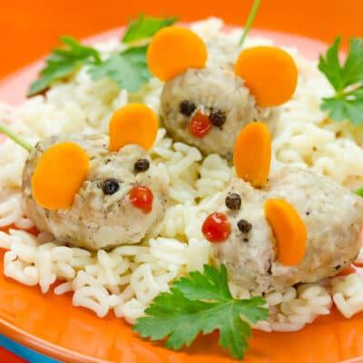 Тефтели с рисом на пару