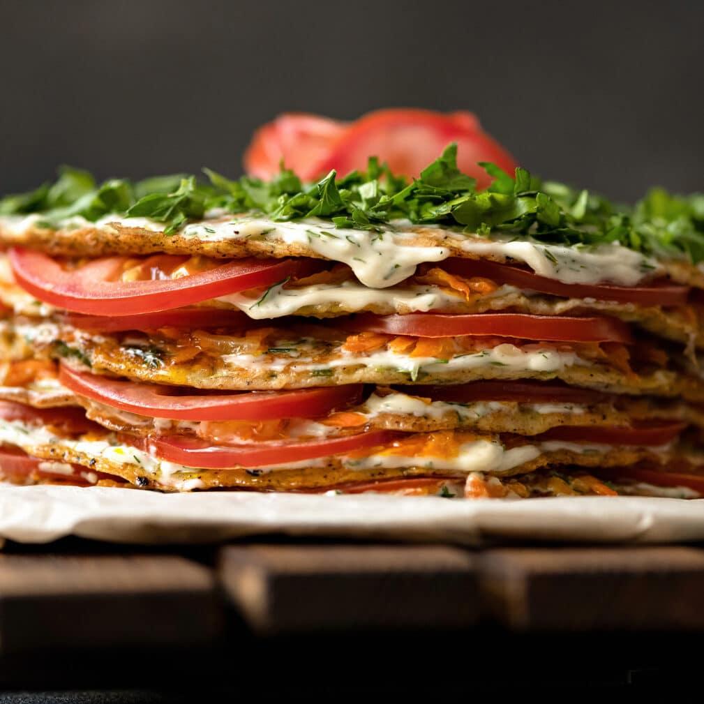 Фото рецепта - Торт из кабачков с помидорами - шаг 6