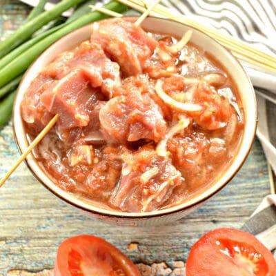 Маринад для шашлыка из томатов с луком - рецепт с фото