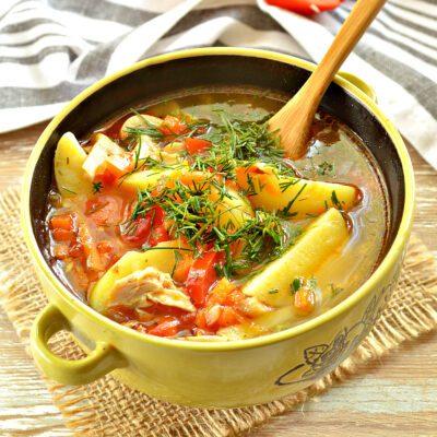 Картофельный суп с курицей и грибами - рецепт с фото