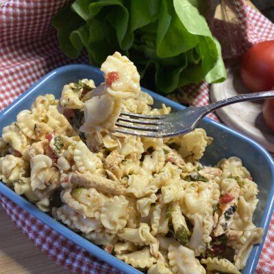Паста с индейкой, запеченная в духовке - рецепт с фото