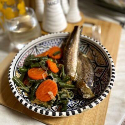 Хек с овощами - рецепт с фото
