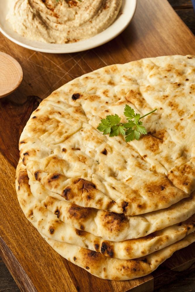 Индийские лепешки на сковороде (чапати)