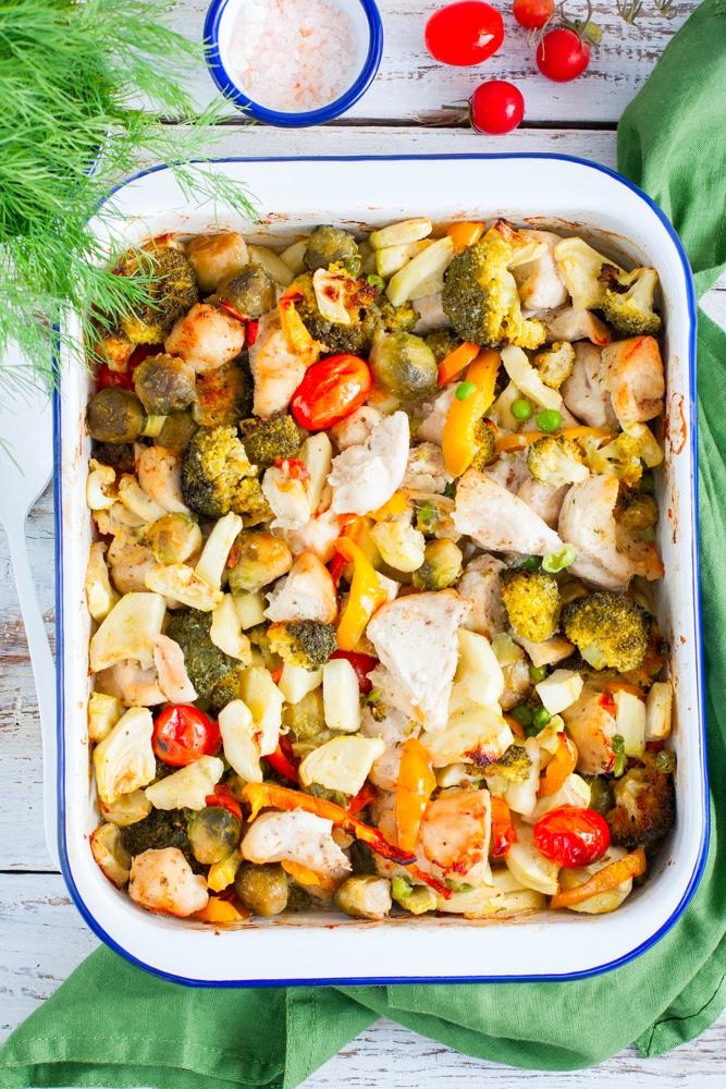 Фото рецепта - Куриная грудка, запеченная с овощами - шаг 10