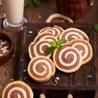 Печенье двухцветное - рецепт с фото