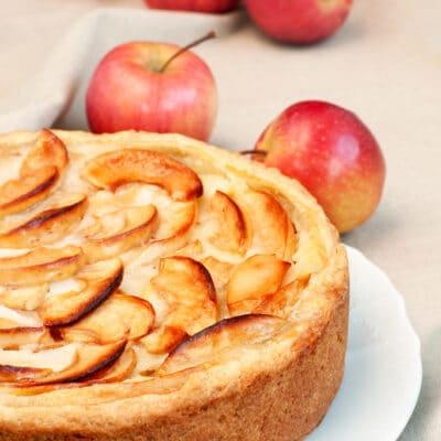 Пирог с яблоками и перчсиками
