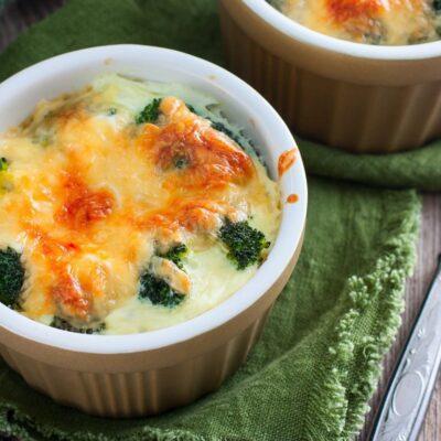 Запечённый брокколи с сыром