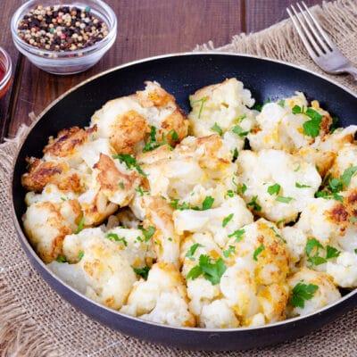 Жареная цветная капуста в панировке - рецепт с фото