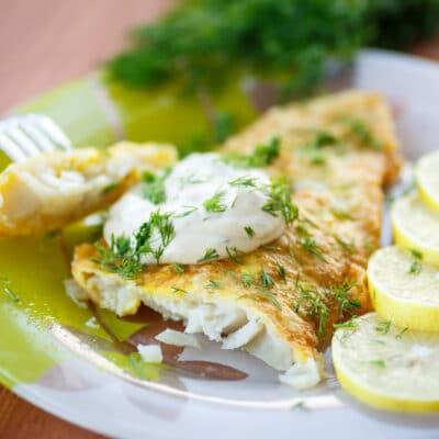 Жареная рыба в яйце - рецепт с фото