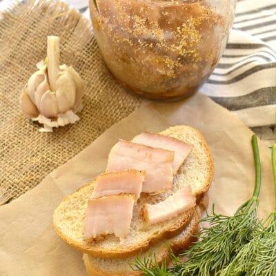 Сало соленое со специями в банке - рецепт с фото
