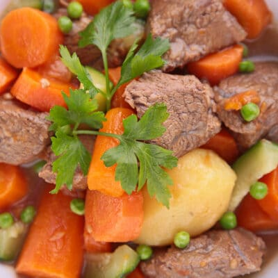 Хашлама из говядины с овощами