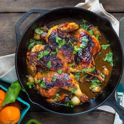Азиатский цитрусовый цыплёнок-табака - рецепт с фото