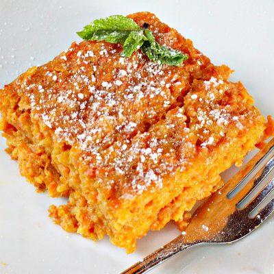 Морковная бабка — запеканка из тертой моркови - рецепт с фото